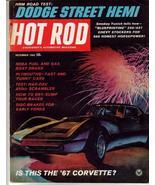 Hot Rod Magazine Dec 1965 67 Corvette Dodge Street Hemi - $7.95