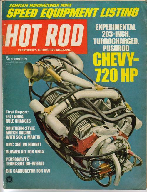 Hot rod magazine dec 70