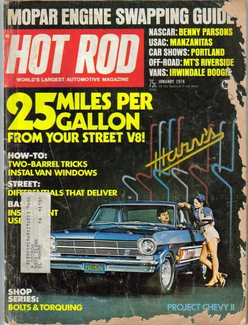 Hot rod magazine jan 74