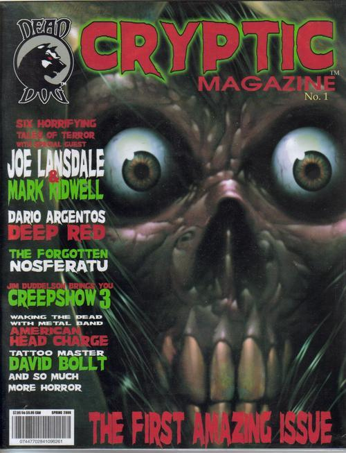 Cryptic Magazine #1 Premiere Issue Joe Lansdale Dario A