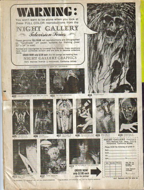 Monster World #1 Night Stalker Darren McGavin Vampires Monsters Gone Apes