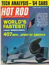 Hot Rod Magazine Oct 63 Craig Breedlove Spirit Of America 220 Hp Cobra - $9.95