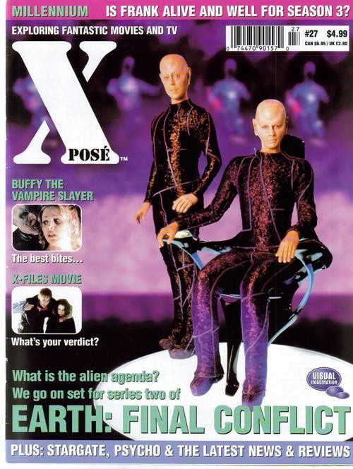 Xpose #27 UK Buffy X-Files Earth Final Conflict Stargate Psycho Action Mystery