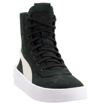 Puma XO Parallel Black Suede Leather Zipper Back Platform High Tops Boot... - $89.99