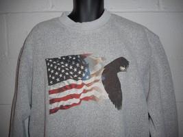 Vintage National Wildlife Federation Eagle Flag Sweatshirt XL XXL - $24.99
