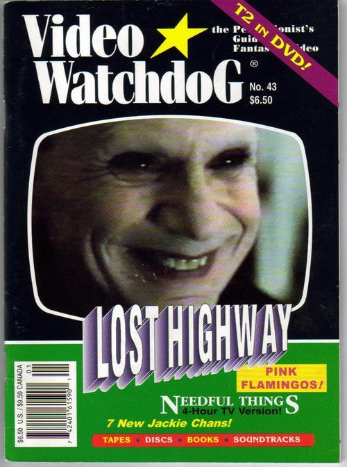 Primary image for Video Watchdog #43 Lost Highway Needful Things T2 DVD