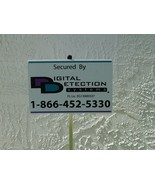DDS Reflctive Security Yard Sign w/ scratches, yellowing, price reduced... - $1.99