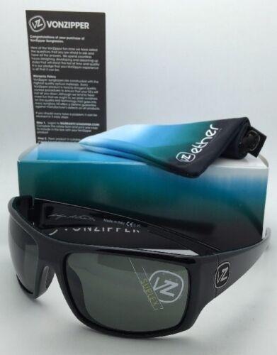 New ETHER Collection VONZIPPER Sunglasses SUPLEX Shiny Black Frame w/Grey Lenses