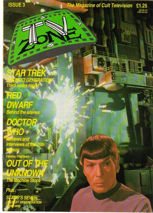 TV Zone #3 STNG Red Dwarf Doctor Who Starr's Seven Out Of The Unknown Spock