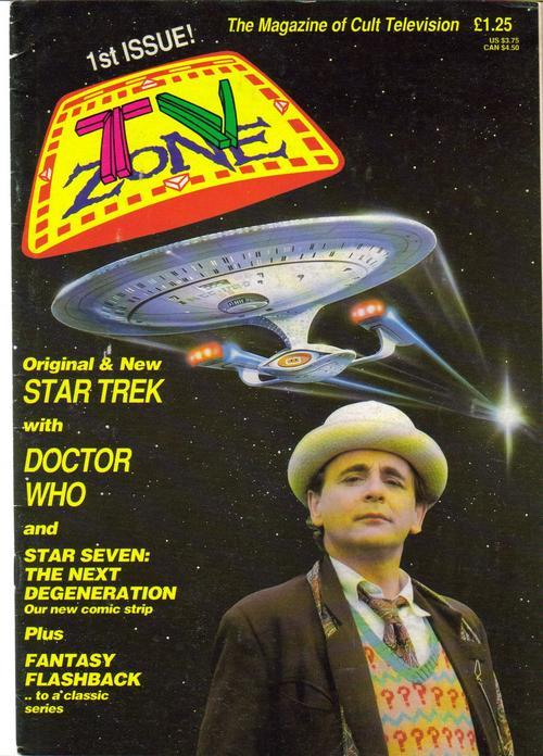 TV Zone #1 Premiere Issue!! Doctor Who Star Trek U.K. Import Fantasy Flashback
