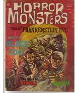 Horror Monsters #6 Frankenstein 1970 Dracula Wolfman Black Zoo - $25.46