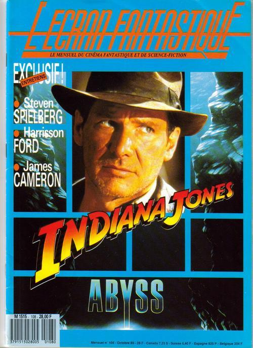 Primary image for L'Ecran Fantastique #108 Indiana Jones Steven Spielberg The Abyss James Cameron