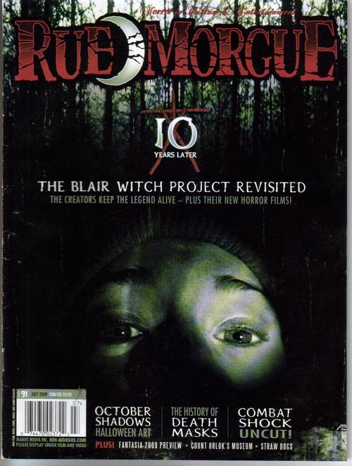 Rue Morgue #91 Blair Witch Death Masks Combat Shock Horror Monster