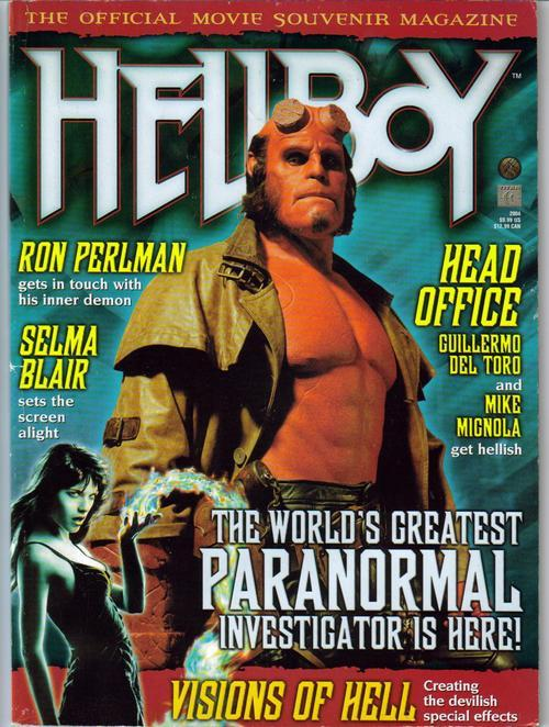 Hellboy Official Movie Souvenir Magazine Ron Pearlman Paranormal Head Office