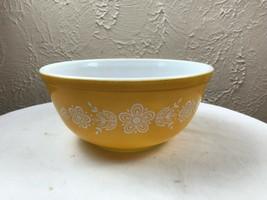 Vintage PYREX BUTTERFLY GOLD Nesting 2 1/2 Quart Medium  MIXING BOWL 403 - $14.92