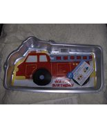 Wilton Retired Fire Truck Cake Pan with Insert and Booklet    - $13.00