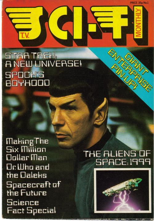 T.V. Sci-Fi Monthly #1 Premiere Issue Star Trek Aliens