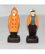 Vintage New England  Fishermen Ceramic Salt Pepper Shakers Japan - $14.99