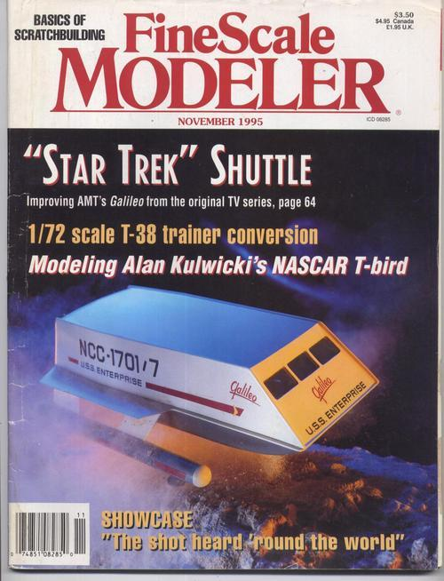 Fine scale modeler star trek shuttle
