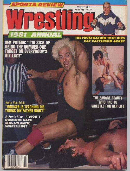 Sports Review Wrestling 1981 Annual Ken Patera Von Eric