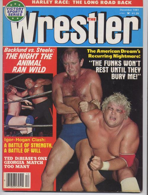 The Wrestler Dec 1981 Snuka Steamboat Lou Albano Dusty Rhodes