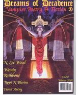 Dreams Of Decadence #16 Vampire Gothic Poetry Fiction Fiona Avery Tippi ... - $7.96