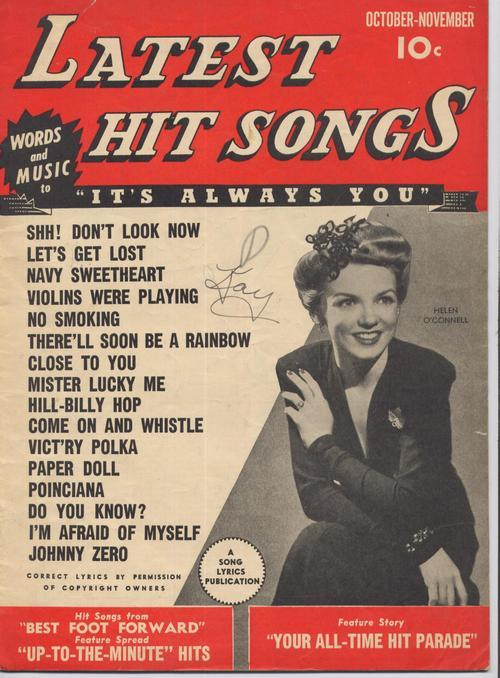 Primary image for 1943 Latest Hit Songs V1 #5 Helen O Connell Johnny Zero Navy Sweetheart Music