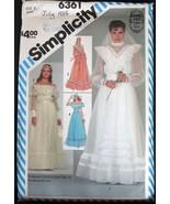 Simplicity 6361 Gunne Sax Wedding Dress sz 6 sewing pattern - $10.75