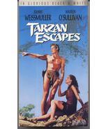 Tarzan Escapes VHS  Johnny Weissmuller Maureen O'Sullivan Jungle Adventure - $9.95