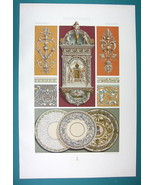 RENAISSANCE Terracotta Architectural Ornaments - COLOR Litho Print by Ra... - $22.95