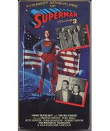 1950'S TV'S Best Adventures Of Superman Vol#3 VHS Black & White - $7.95