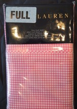 RALPH LAUREN PINK CLASSIC GINGHAM FULL FLAT SHEET $130 ON TAG FREE GIFT - $32.18