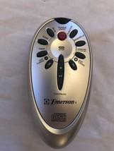 Emerson Cd Player Boom Box Radio Remote Control Small Oval Gray 10 Button - $7.84