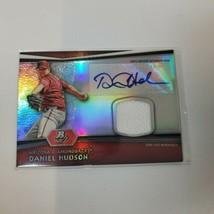 Daniel Hudson 2012 Bowman Platinum Autograph Jersey Relic Card - $9.50