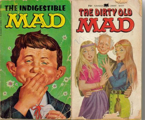 Mad Paperback Lot Son of Mad Mad Power Indigestible Mad Dirty Old Mad