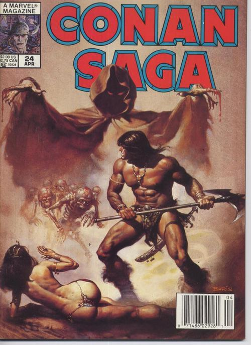 Marvel Conan Saga #24 VF Barbarian Cimmeria Stygia Warriors Action Adventure
