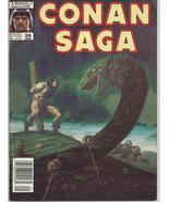 Marvel Conan Saga #34 VF Barbarian Cimmeria Stygia Warriors Action Adven... - $4.95