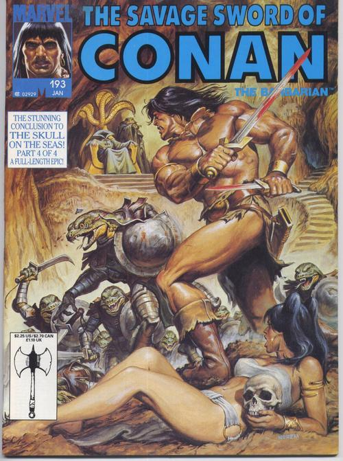 Marvel Savage Sword Of Conan #193 The Skull Barbarian Action Adventure