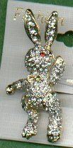BUNNY RABBIT PIN WITH MOVABLE ARMS & LEGS