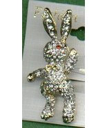 BUNNY RABBIT PIN WITH MOVABLE ARMS & LEGS - $9.50