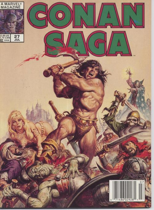 Conan Saga #27 VF Barbarian Cimmeria Stygia Warriors Action Adventure War Battle