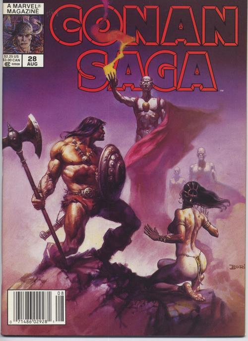 Conan Saga #28 VF Barbarian Cimmeria Stygia Warriors Action Adventure War Battle