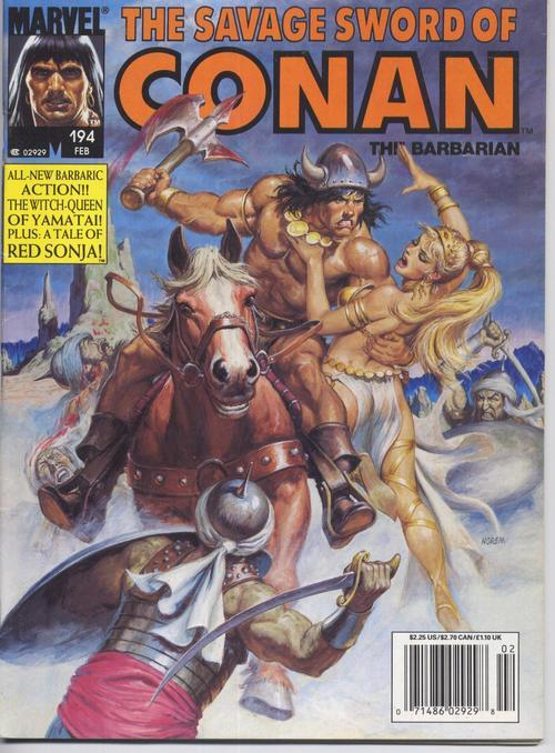 Marvel Savage Sword Of Conan #194 Red Sonja Barbarian Action Adventure