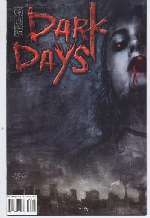 IDW Dark Days #1  30 Days Of Night Vampires Horror Terror Monster