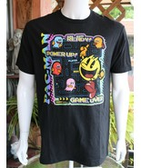 Pac-Man Mens Graphic Tee Black Cotton T-Shirt Size L NEW - $20.39