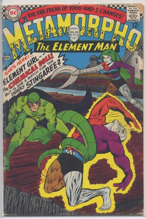 DC 1967 METAMORPHO THE ELEMENT MAN #10 VERY GOOD Chemical Doll Adventure Action