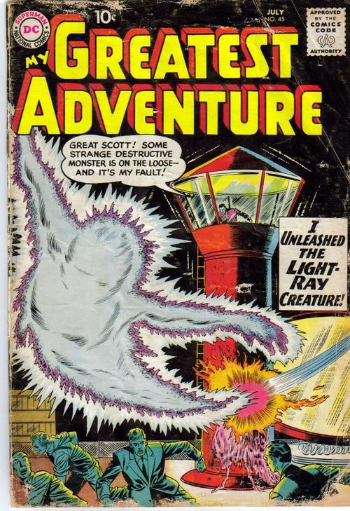 DC My Greatest Adventure #45 Sci Fi Horror The Light Ray Creature Monster