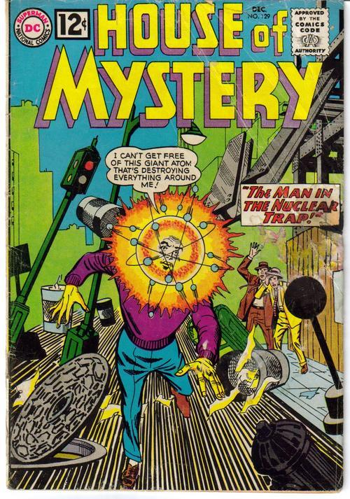 DC House Of Mystery #129  Sci-Fi Horror Monster The Man In The Nuclear Trap