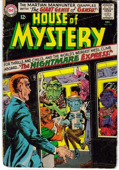 DC House Of Mystery #155 Sci-Fi Martian Manhunter DC Sci-Fi Horror Monster