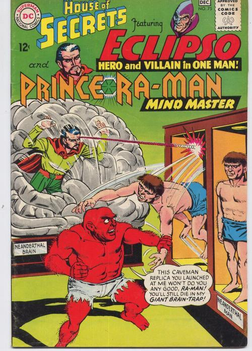 DC House Of Secrets #75 Eclipso Prince Ra-Man Horror Giant Brain Trap
